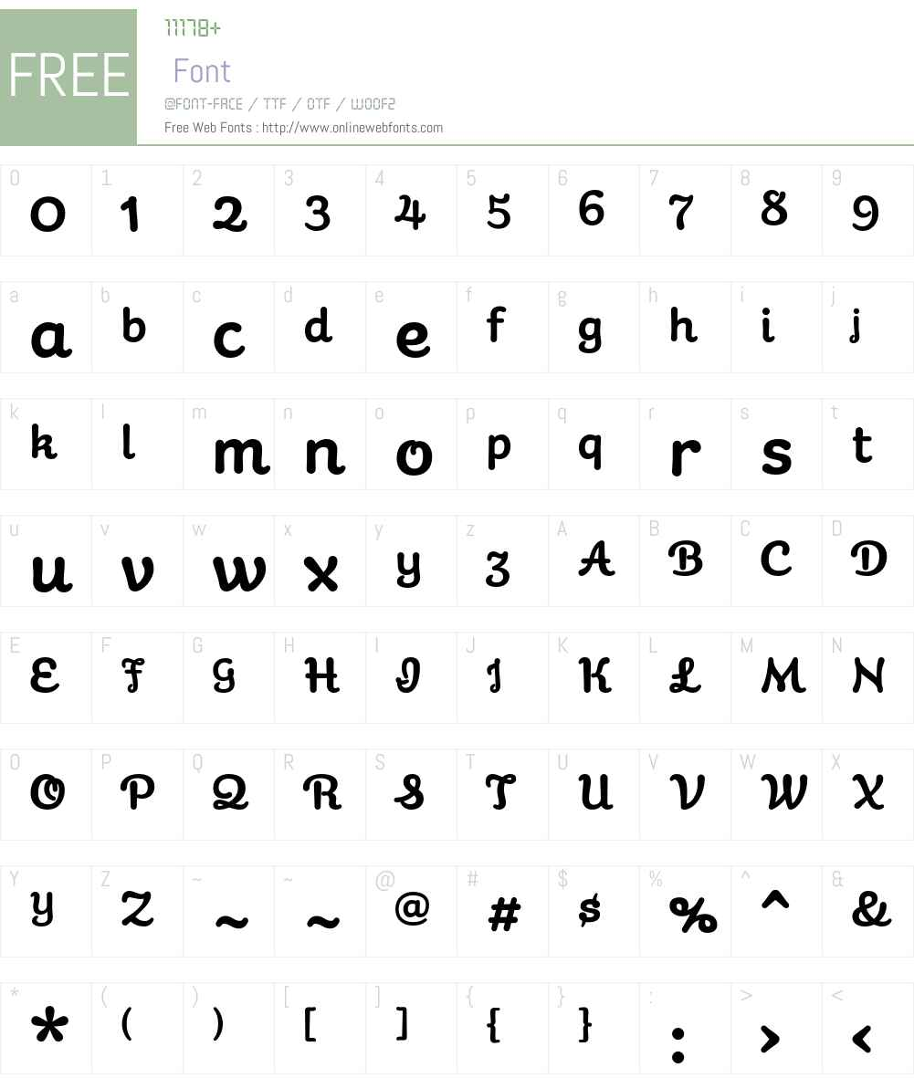 Galaxie Cassiopeia Basic Font Screenshots