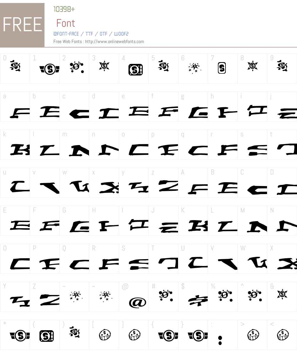ChainCrank Font Screenshots