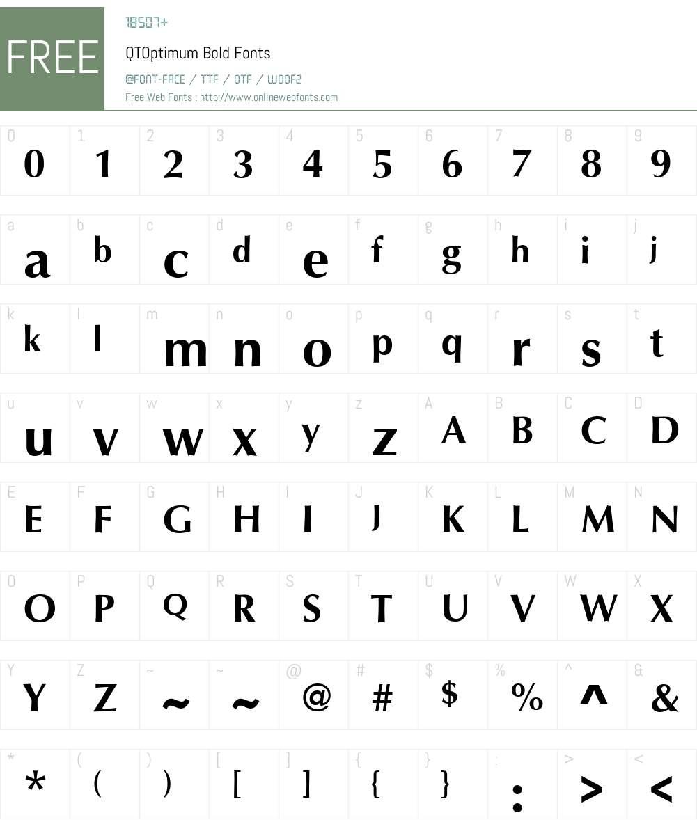 QTOptimum Font Screenshots