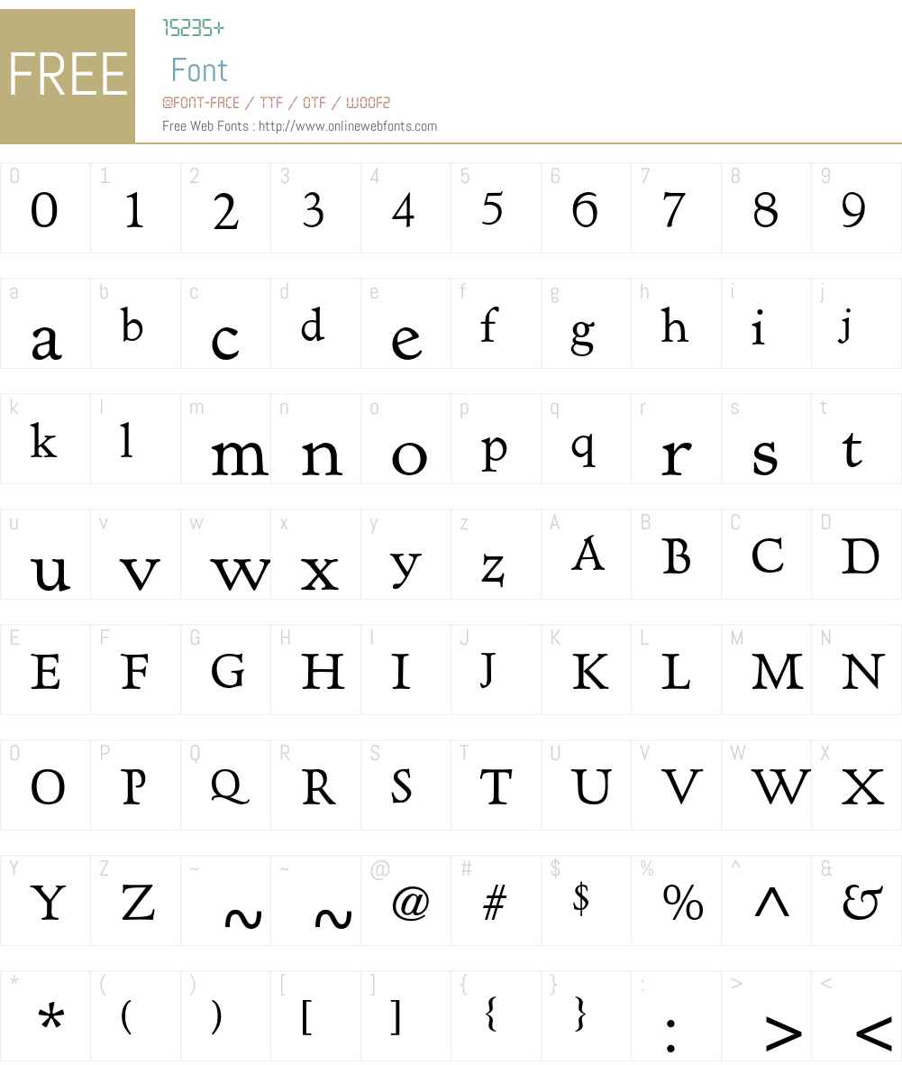 AT Hadriano Std Font Screenshots