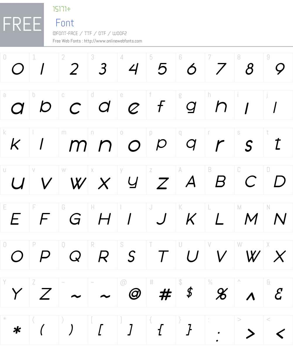 SF Orson Casual Medium Font Screenshots