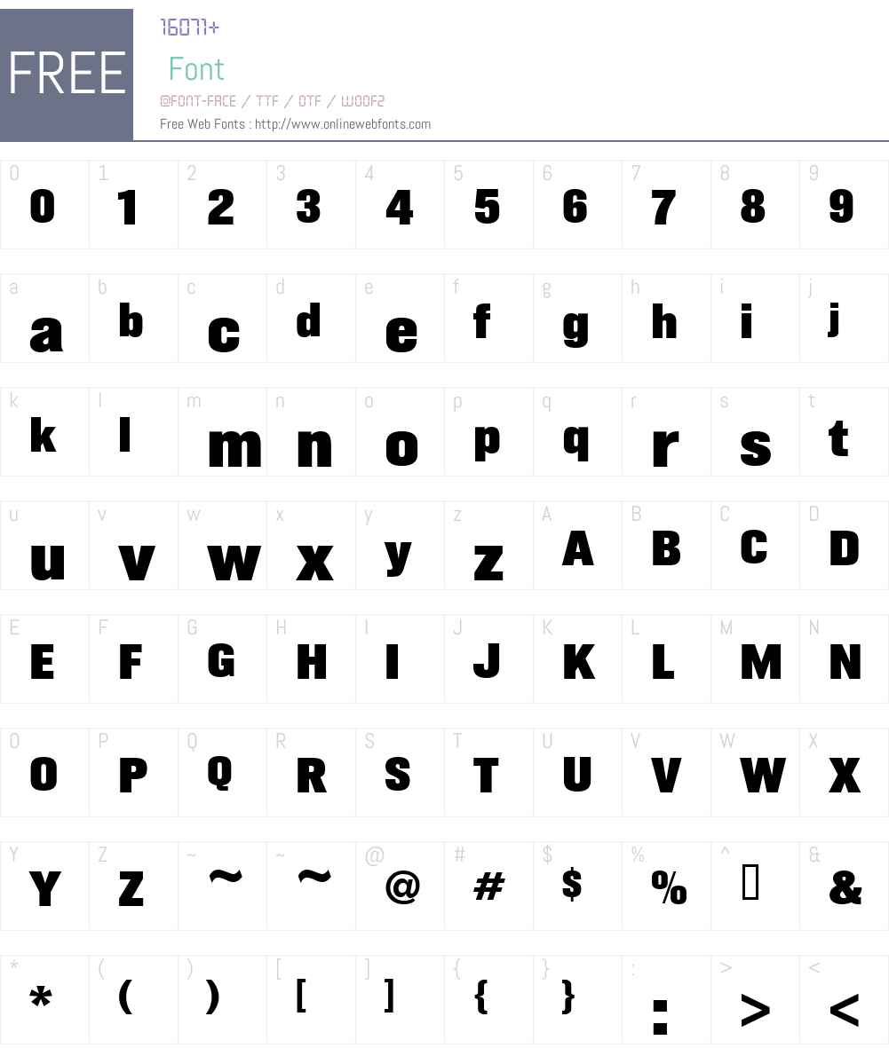 GustoW90-Black Font Screenshots