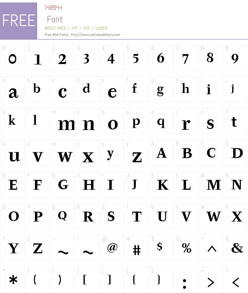 Tyfa ITC Std Font Screenshots