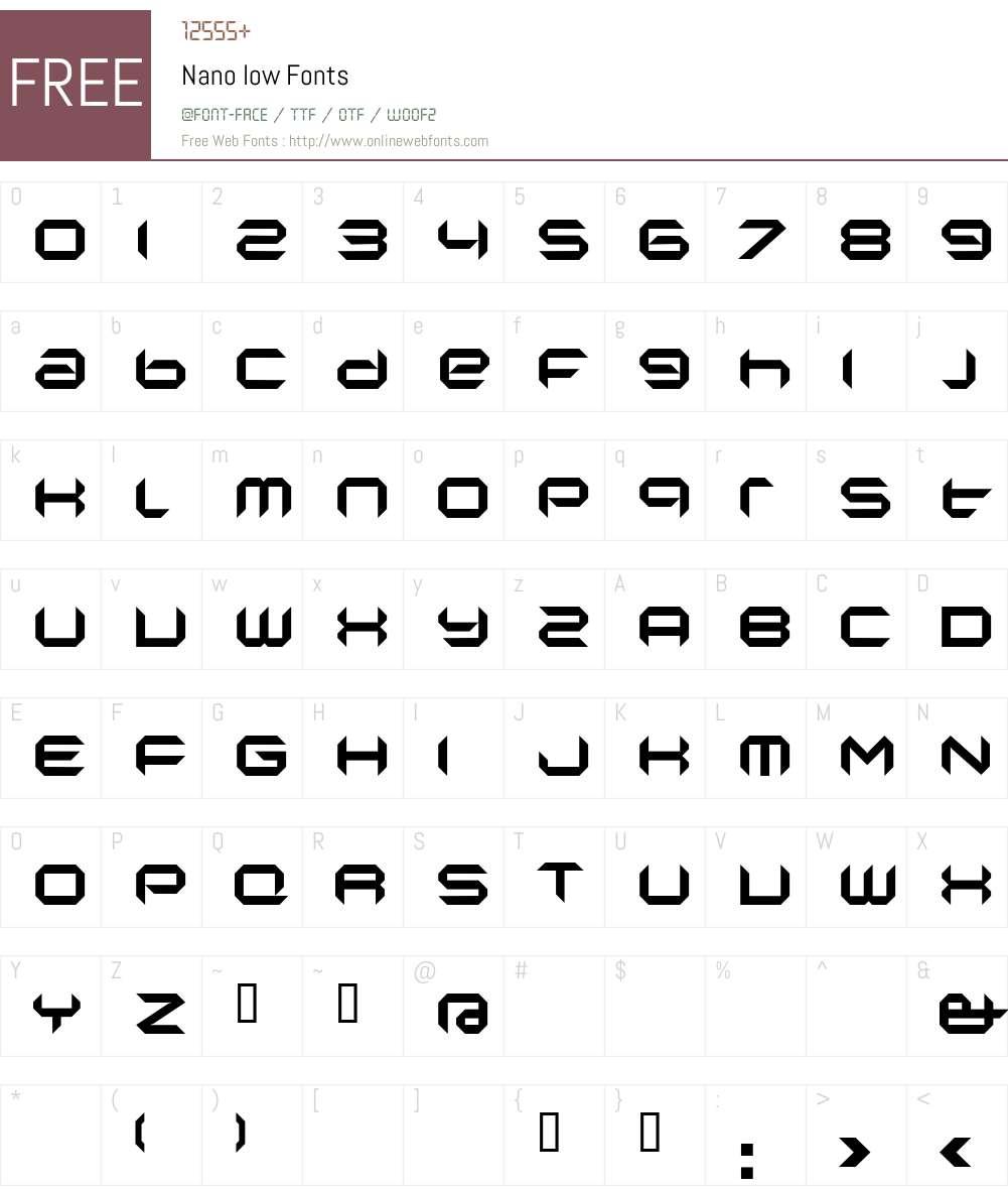 Nano Font Screenshots