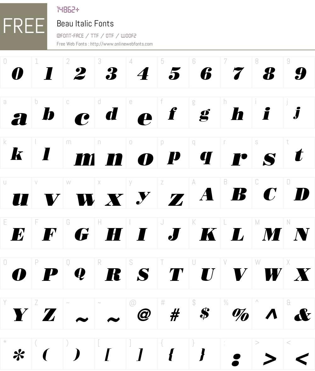 Beau Font Screenshots