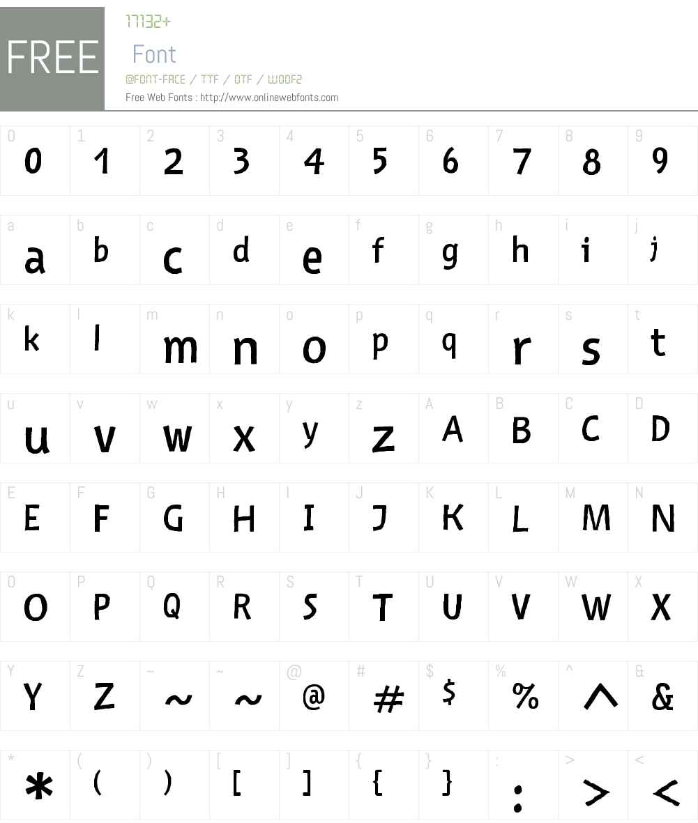 Nazhdak Font Screenshots
