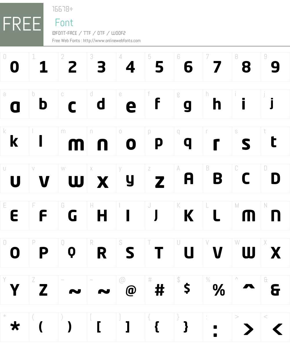 Neo Tech Std Font Screenshots