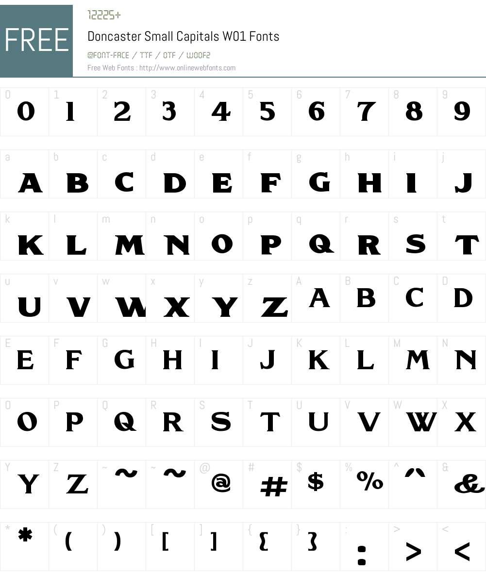 DoncasterSmallCapitalsW01 Font Screenshots