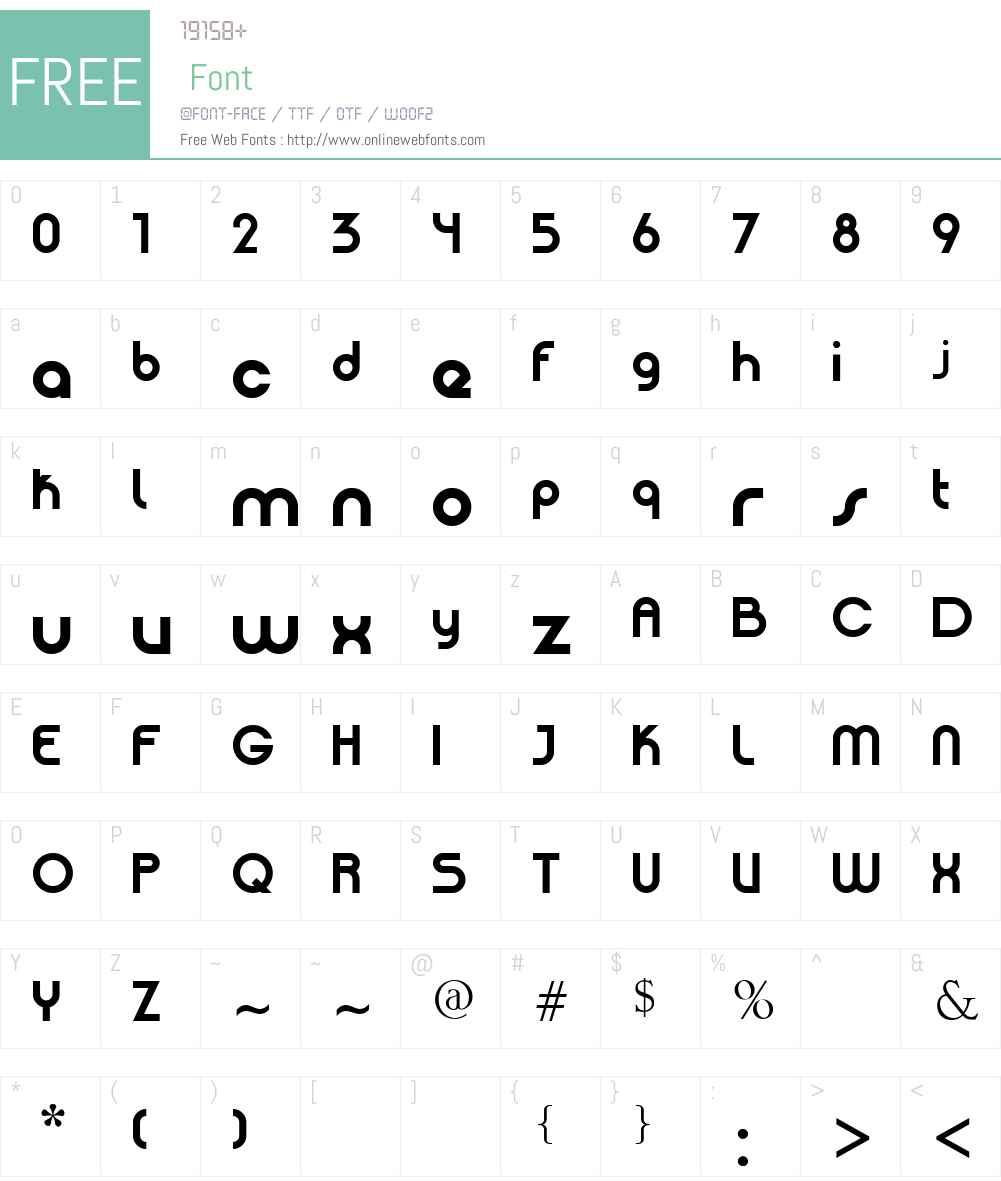 Patinio Basica Font Screenshots