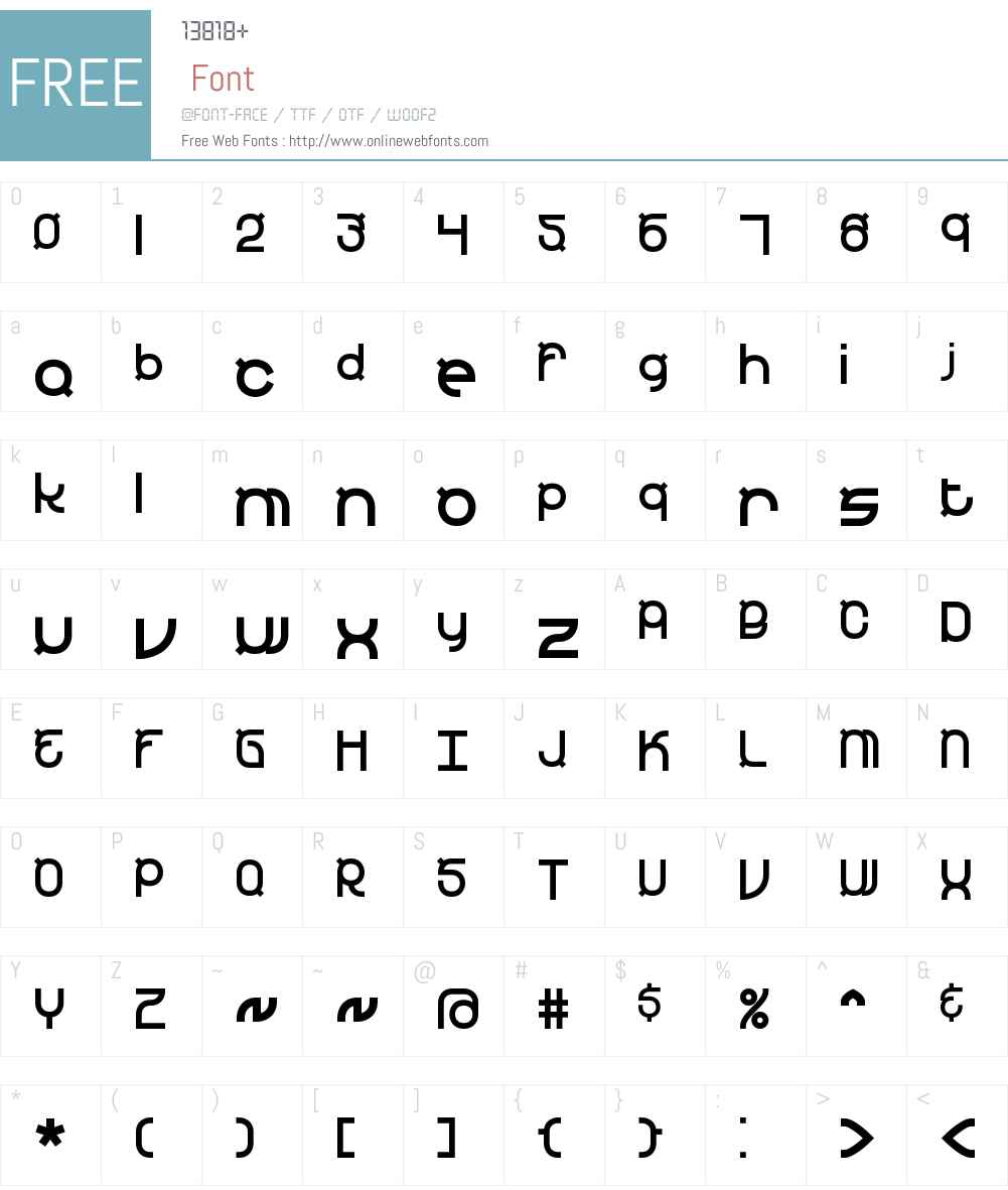 Yearend BRK Font Screenshots