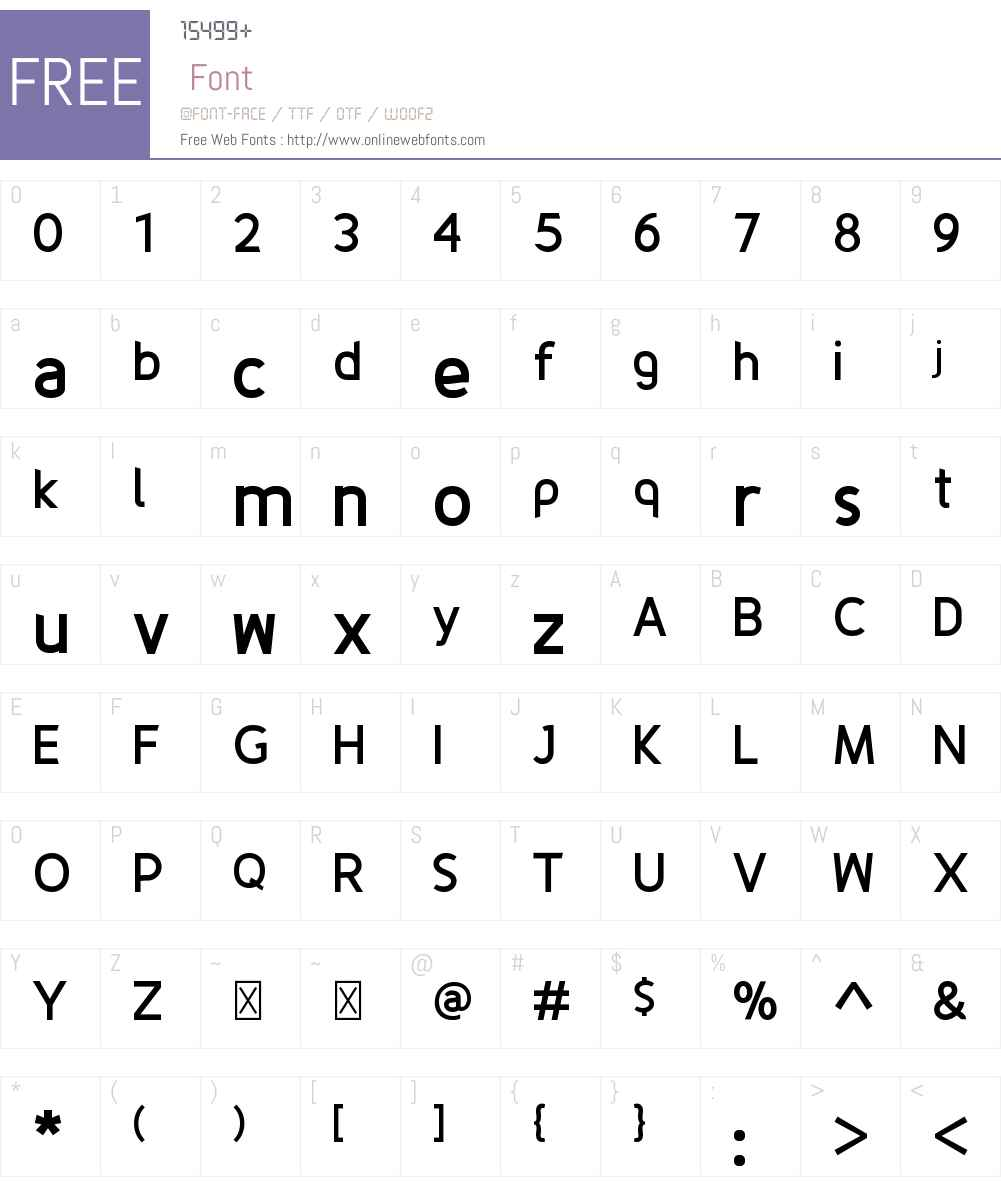Fineness Font Screenshots