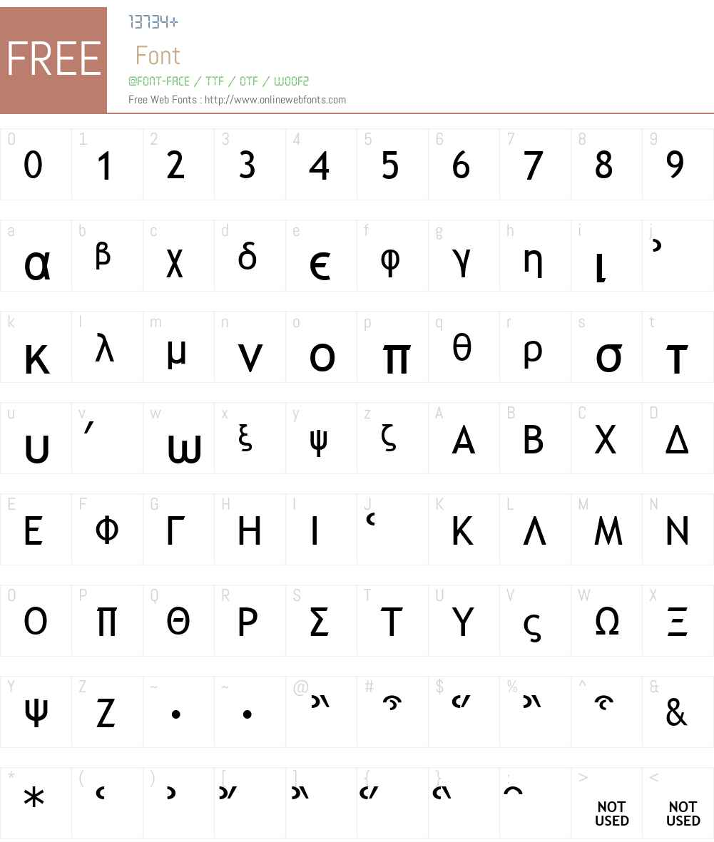 Galilee Font Screenshots