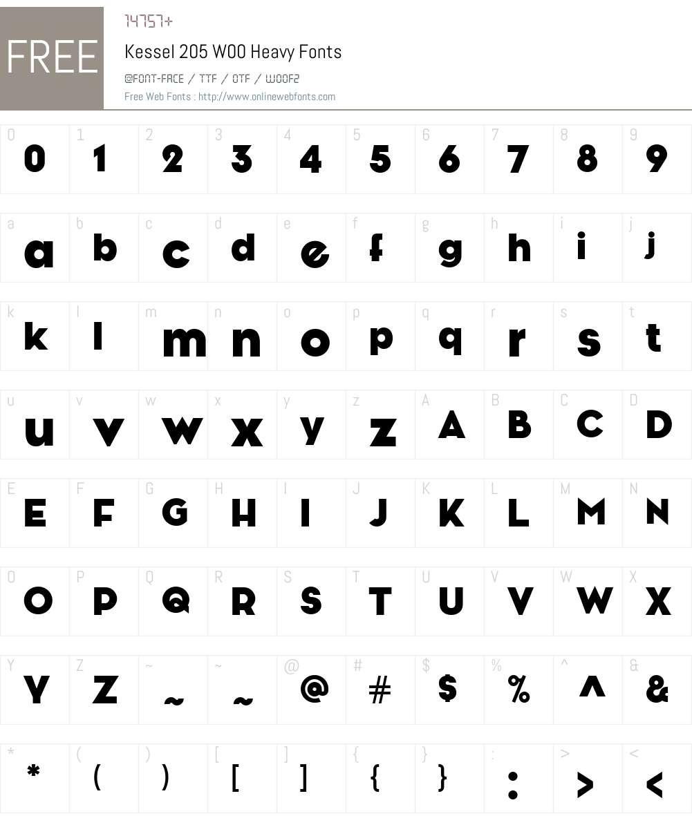Kessel205W00-Heavy Font Screenshots