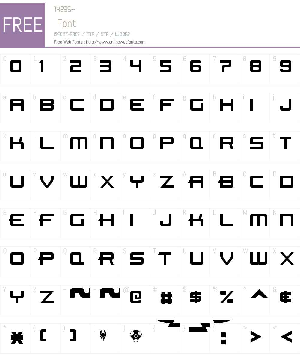 Beast Machines Font Screenshots