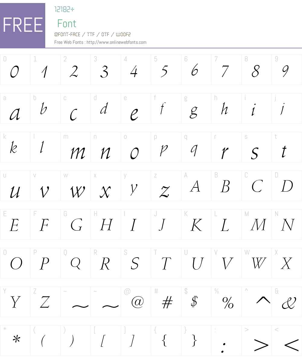 Schneidler Lt BT Font Screenshots