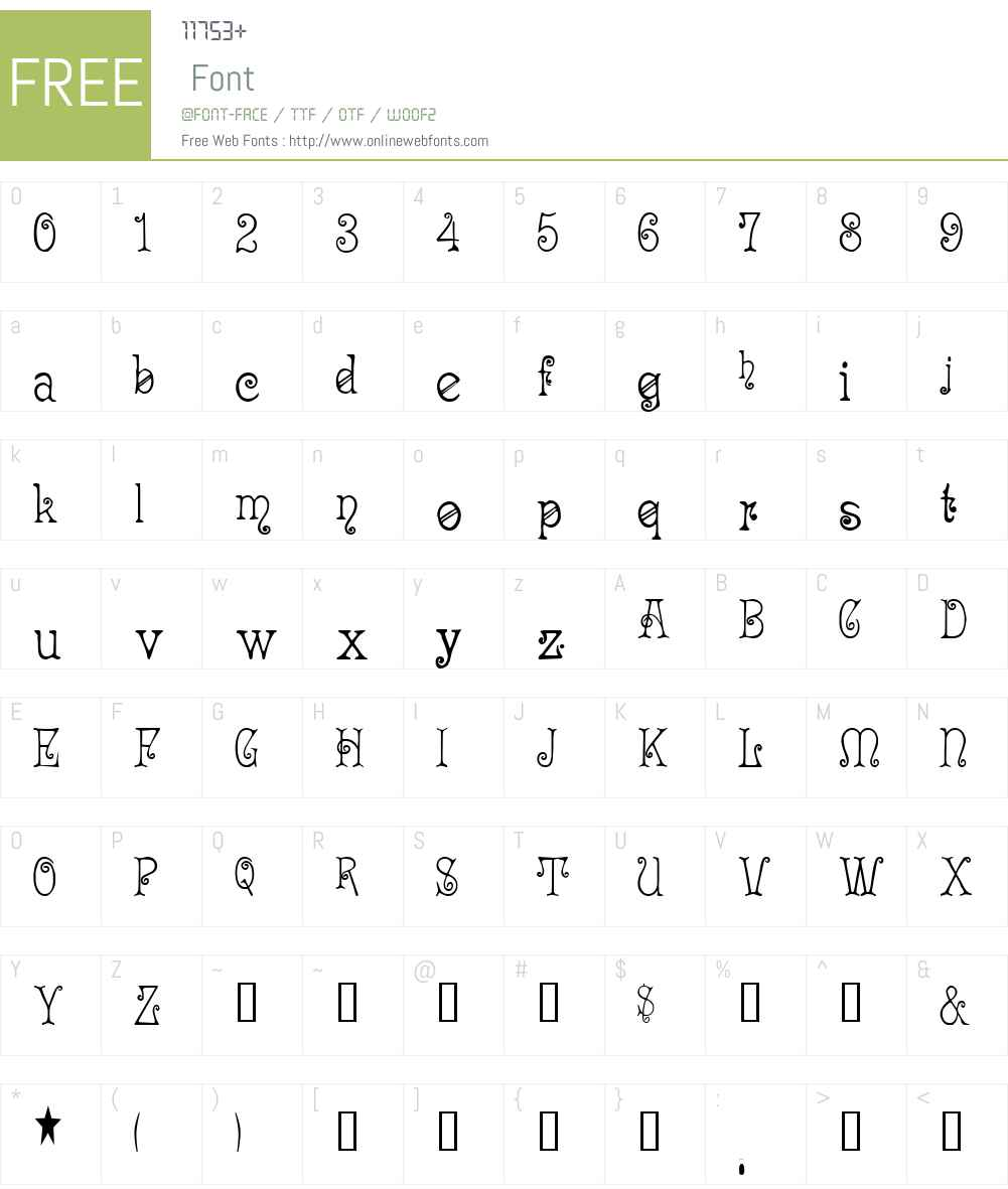 Acadian Font Screenshots