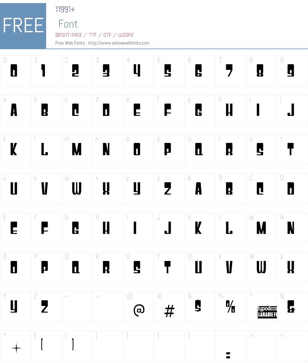 Gyparody Font Screenshots