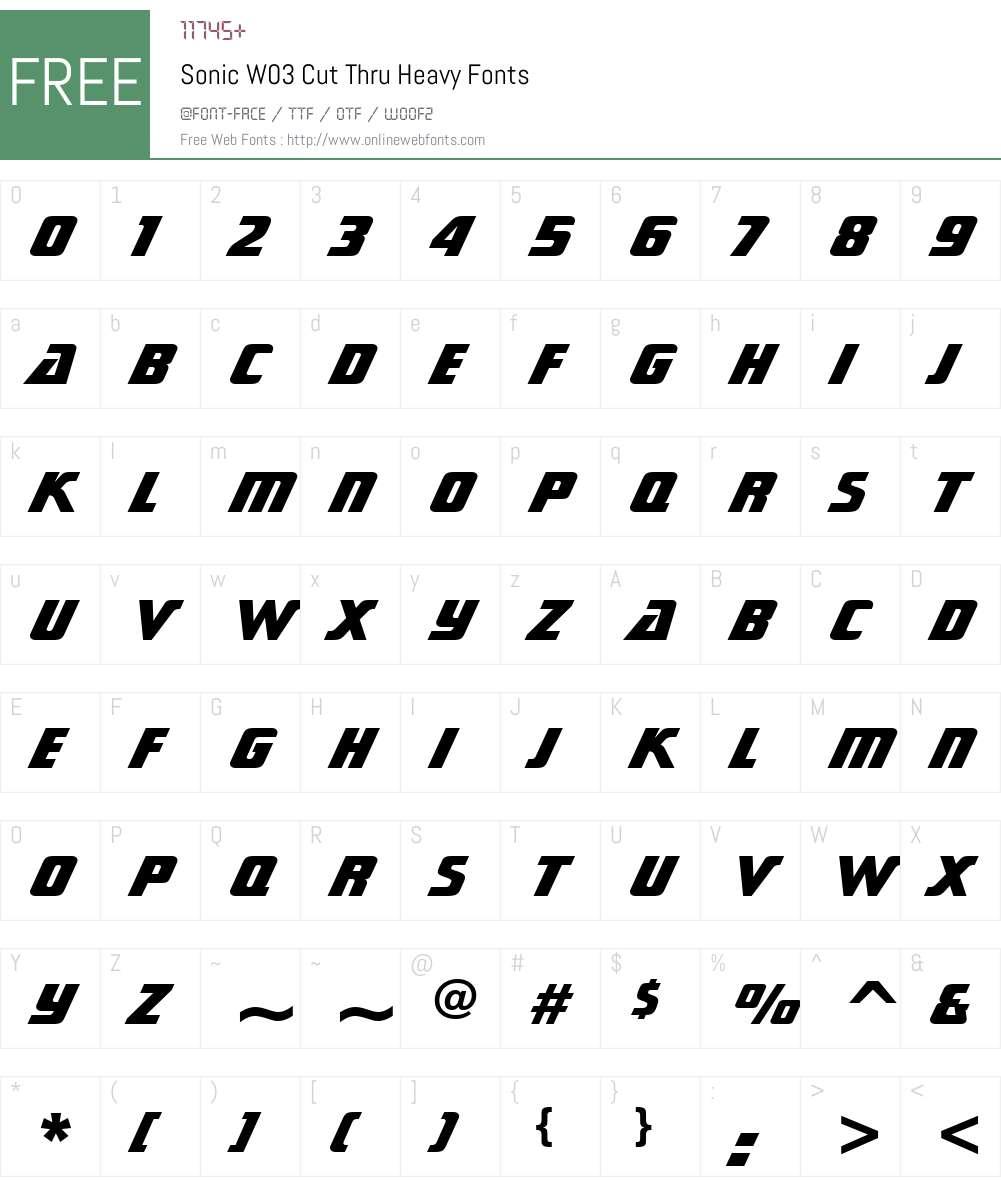 Sonic Font Screenshots