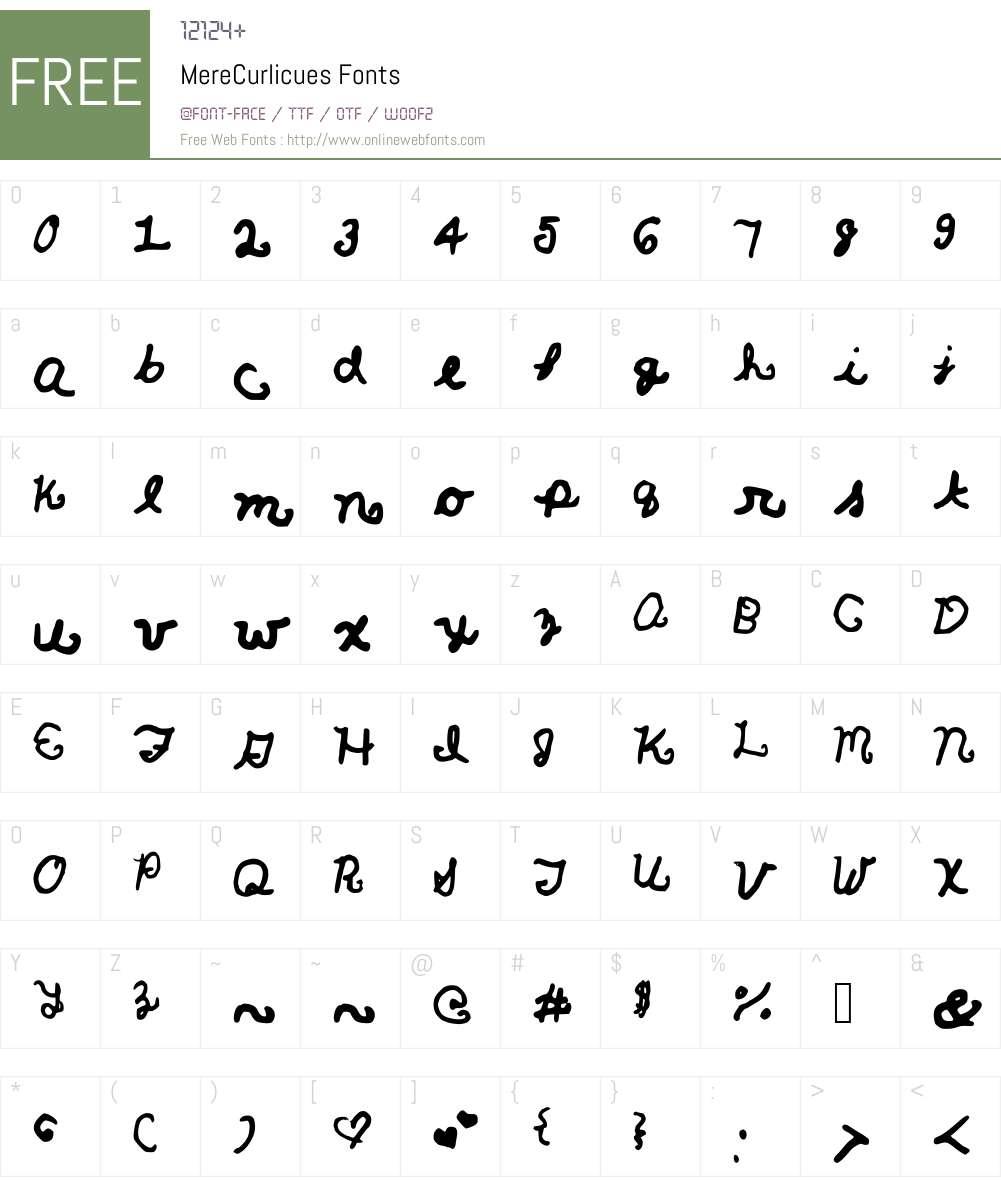 MereCurlicues Font Screenshots