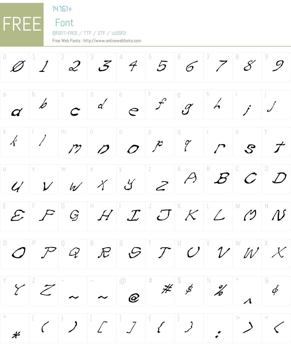 Zippittey Font Screenshots