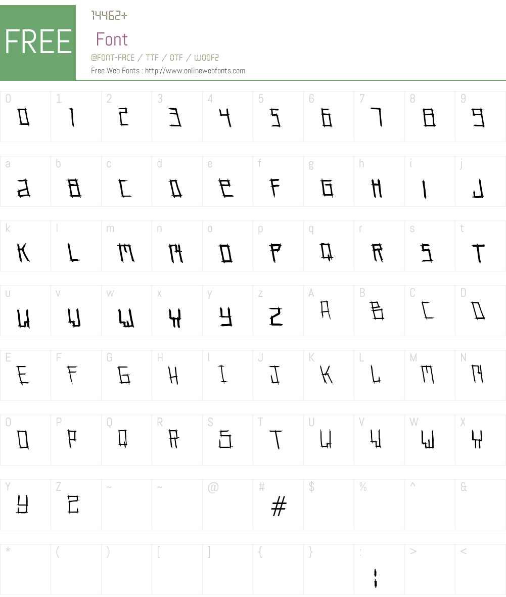 pin me needles Font Screenshots