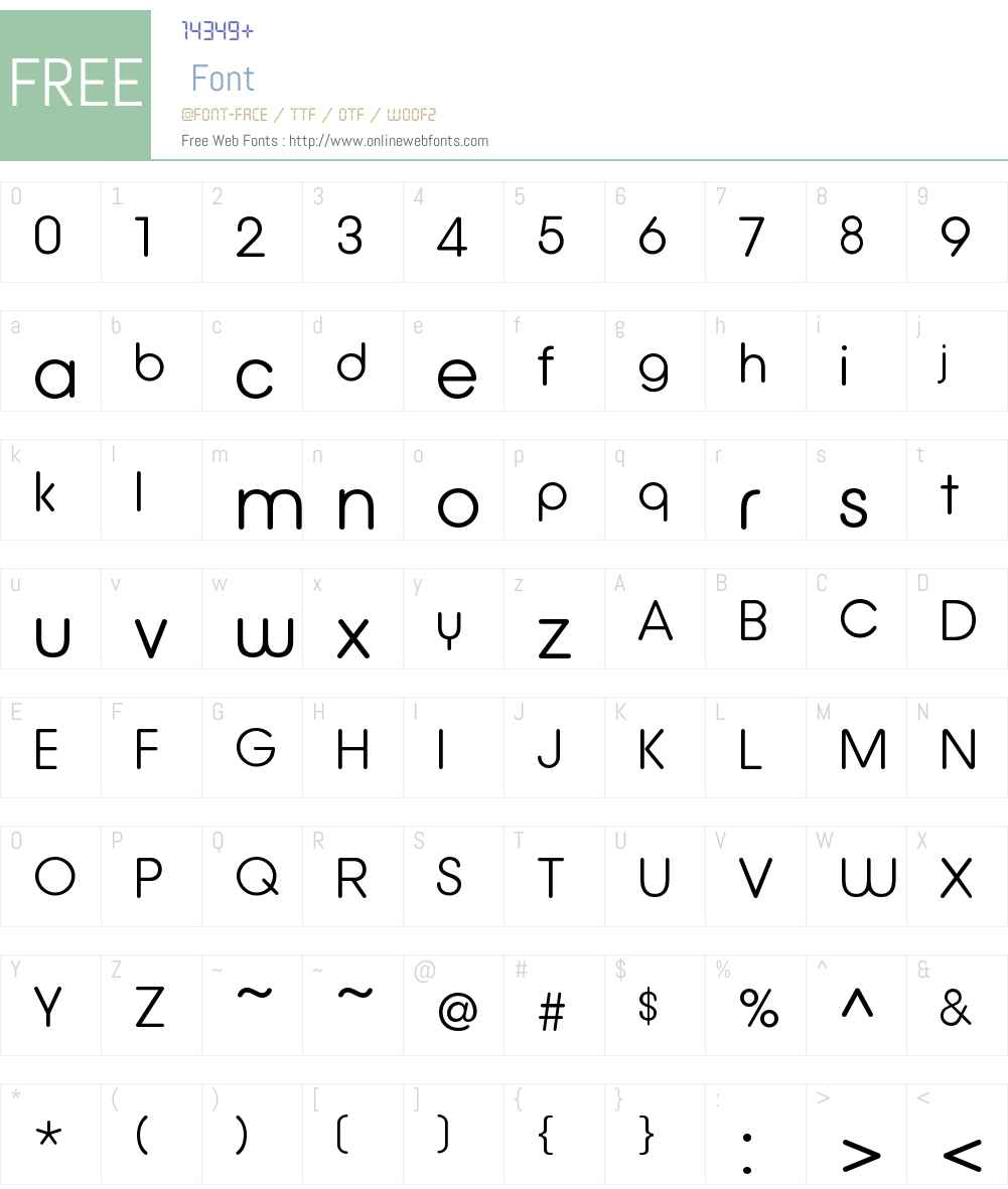 DefusedOTW00-Light Font Screenshots