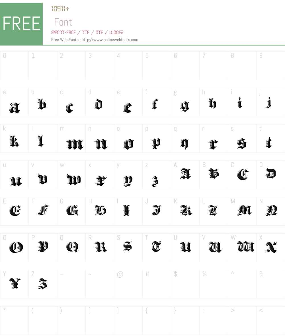 Heavy Gothik Font Screenshots