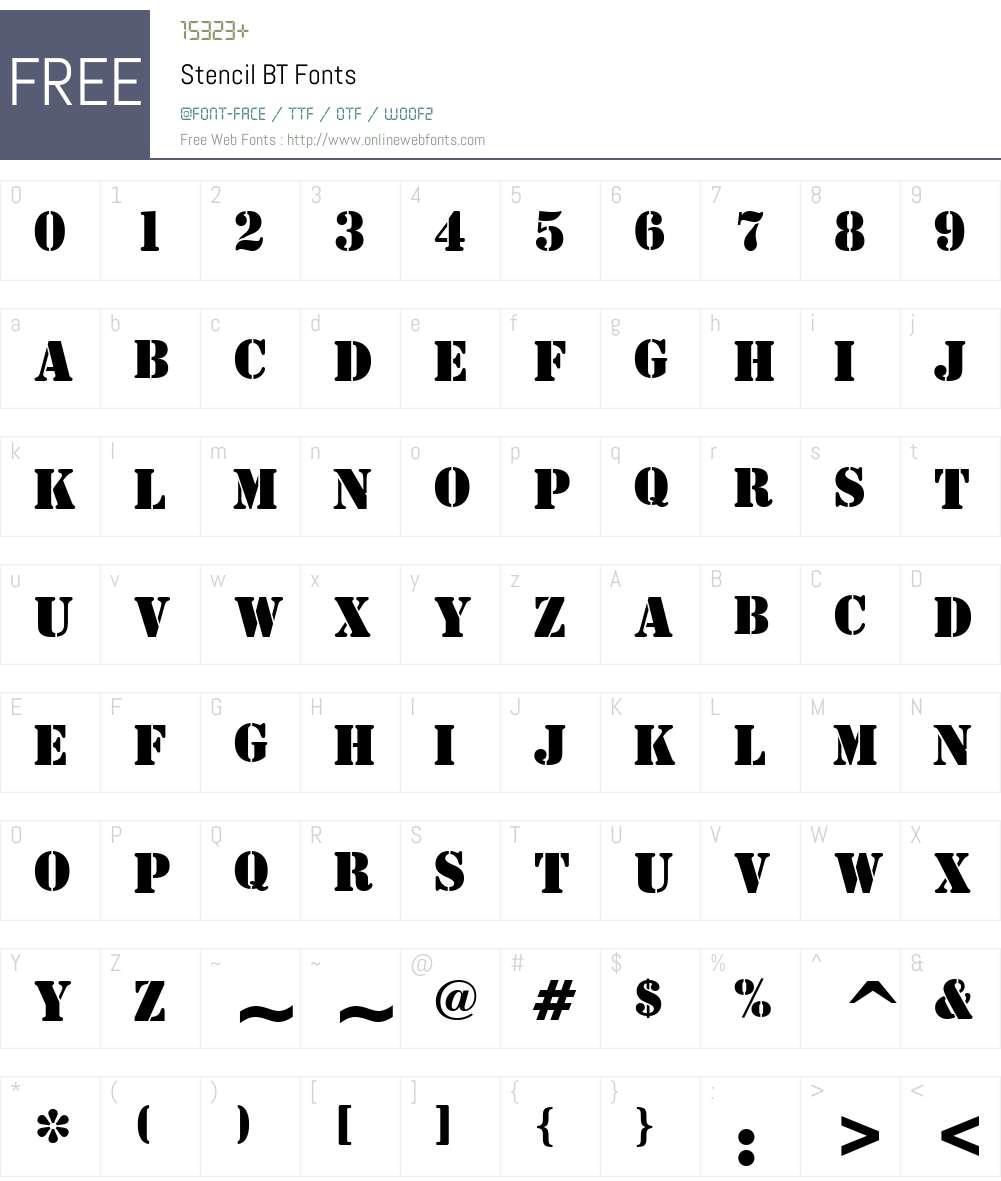 Stencil Font Screenshots