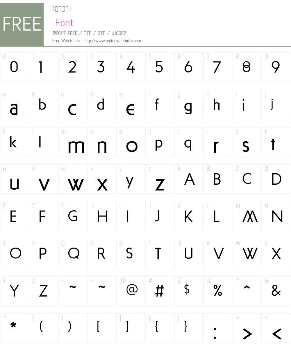 ArnoldSamuelsW00-Medium Font Screenshots
