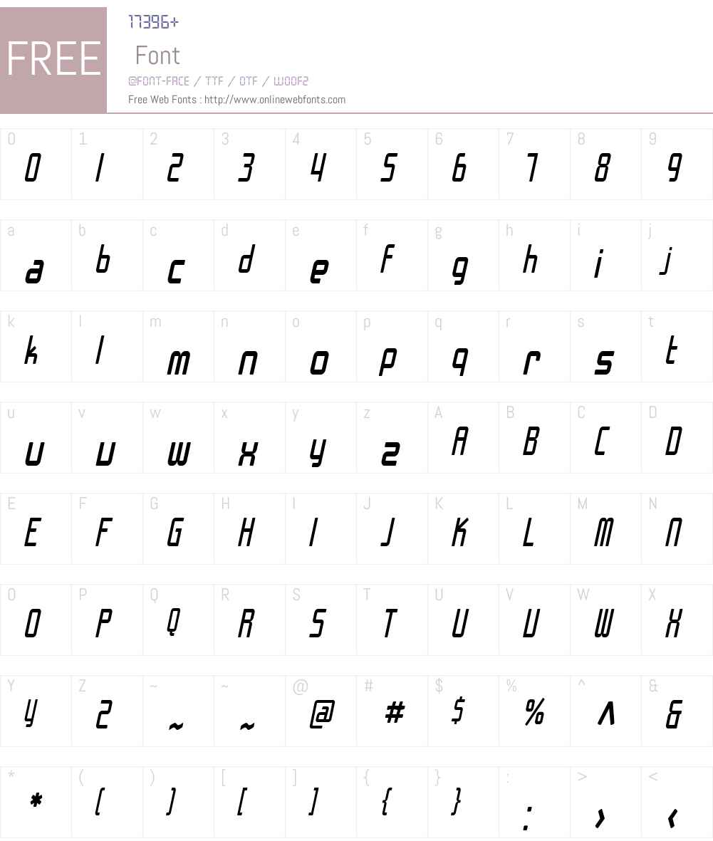 SF Chrome Fenders Condensed Font Screenshots