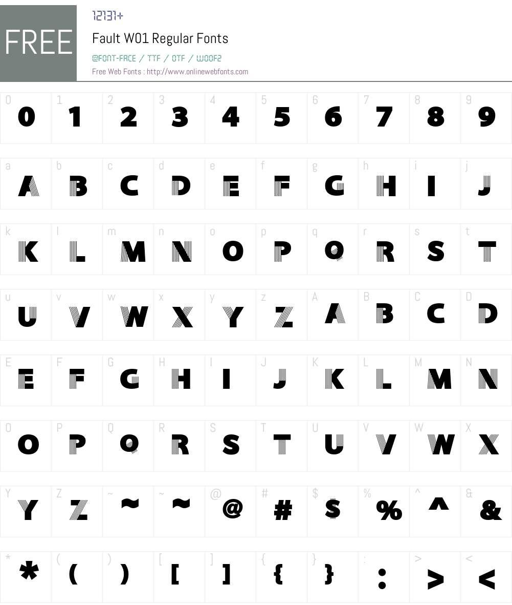 FaultW01-Regular Font Screenshots