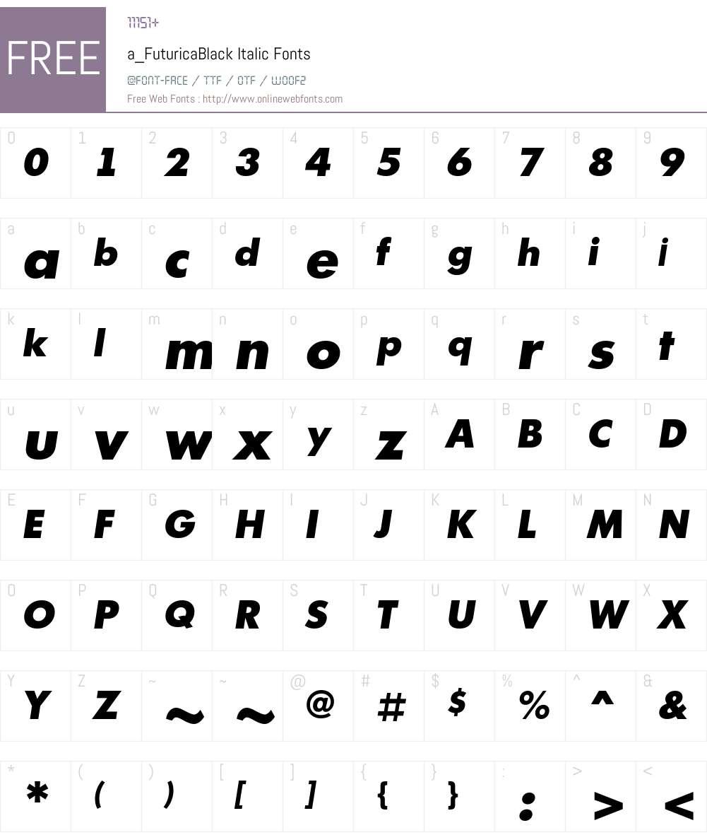 a_FuturicaBlack Font Screenshots