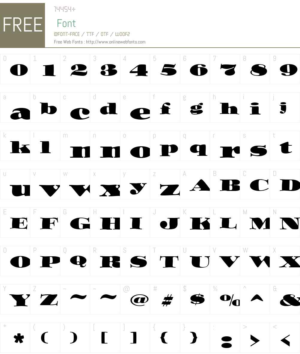 Ozwald ICG Font Screenshots