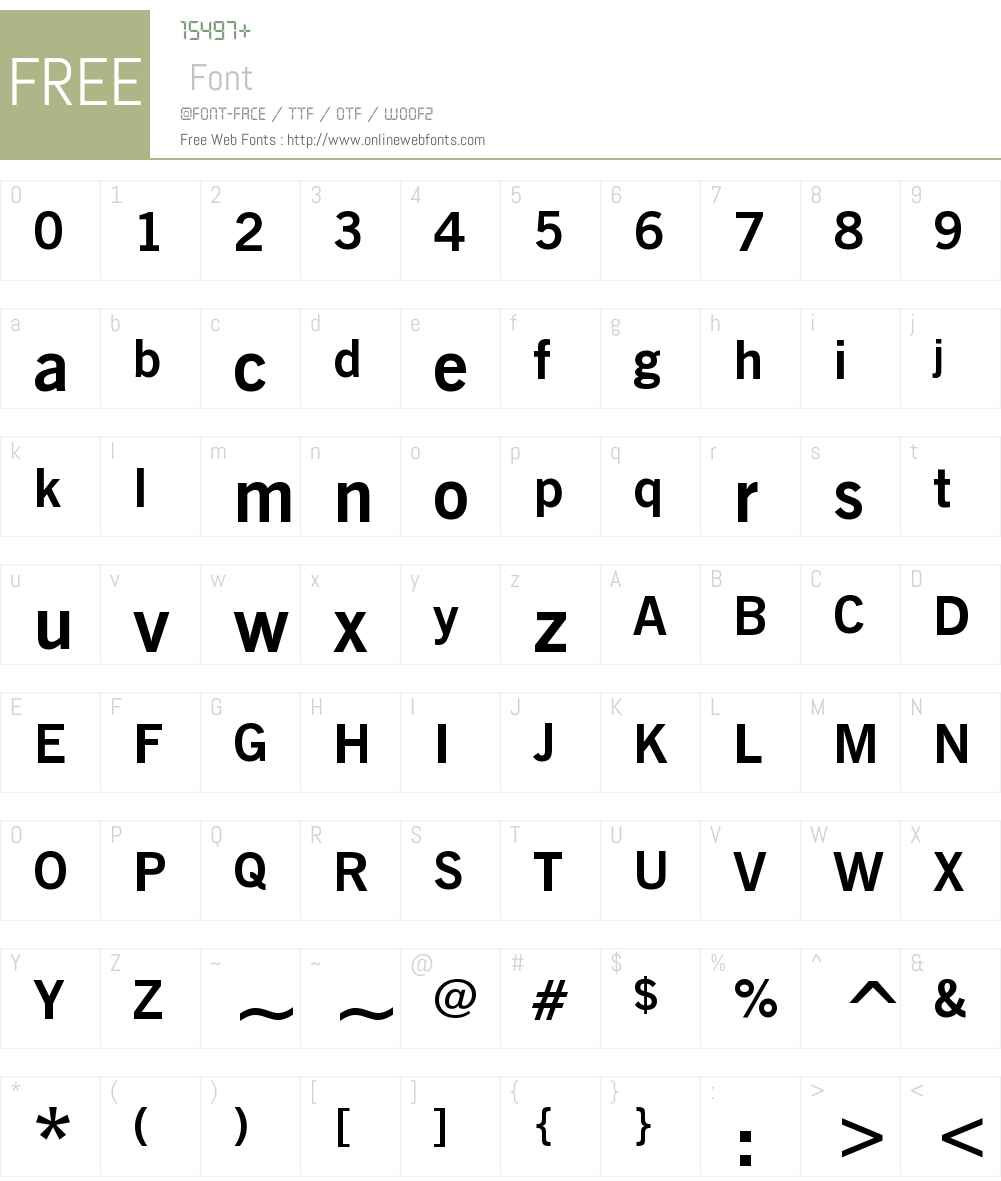 NewsGothicW07-Bold Font Screenshots
