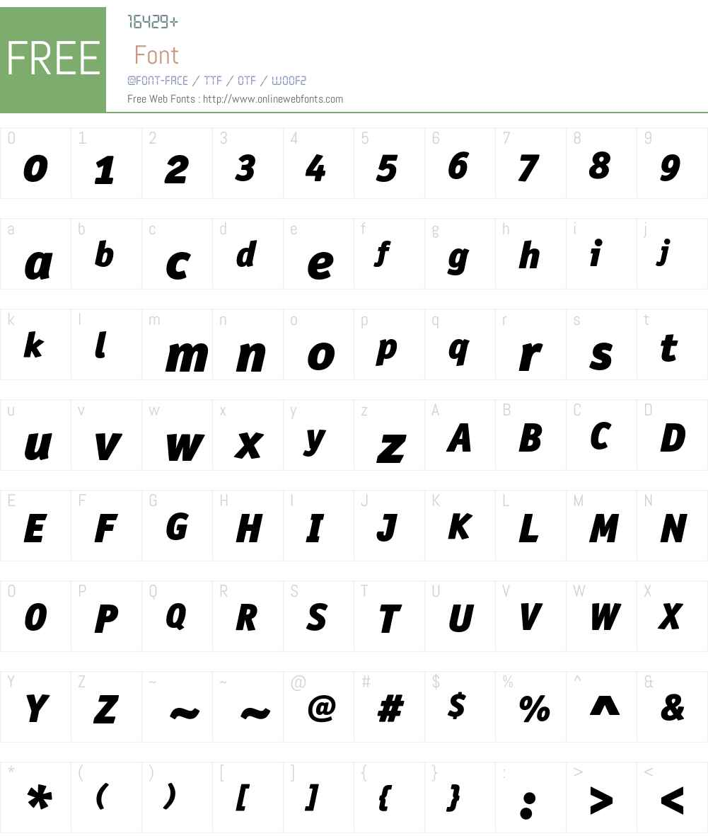 OfficinaSanITC Font Screenshots