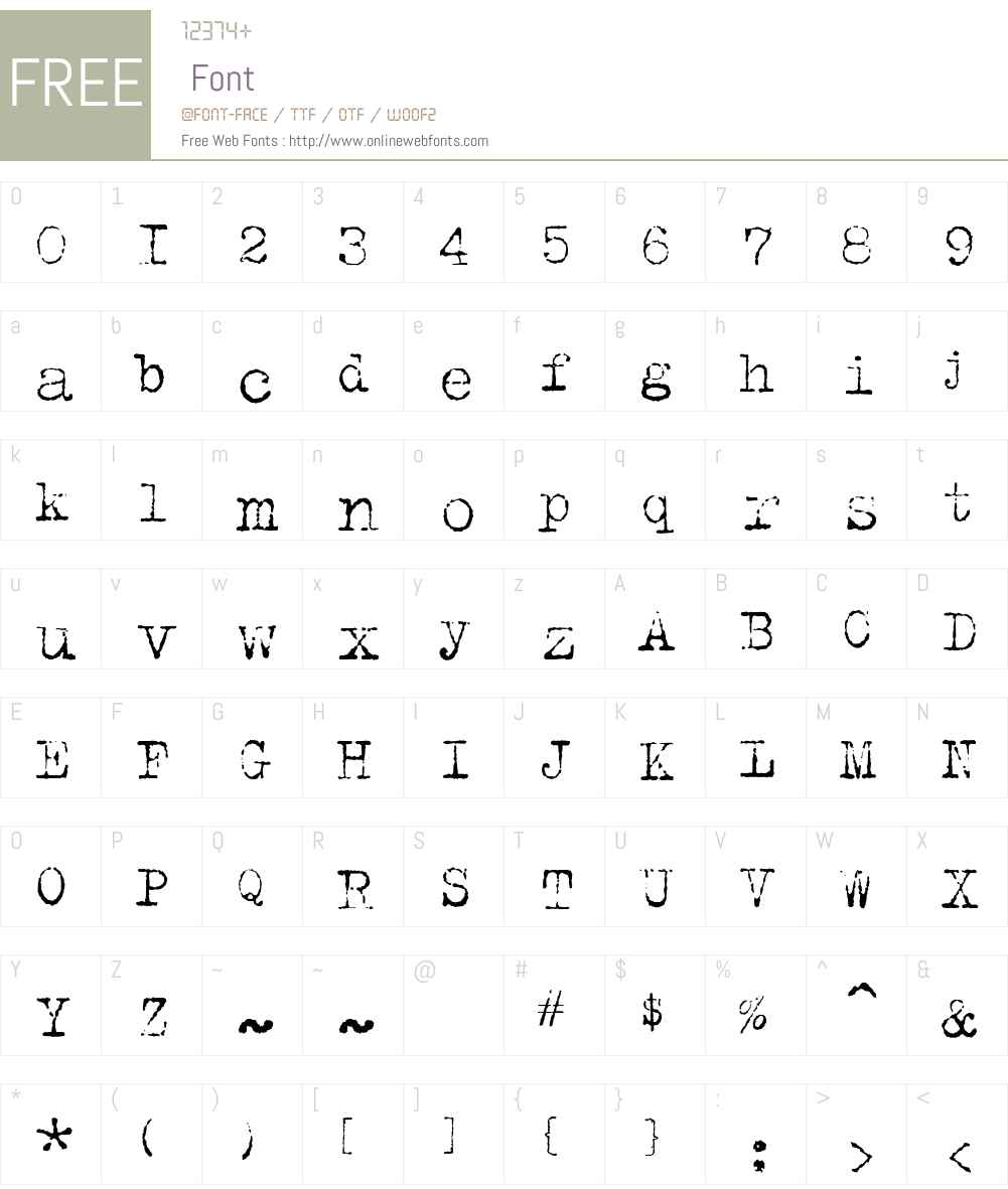 TrixieCyr Font Screenshots