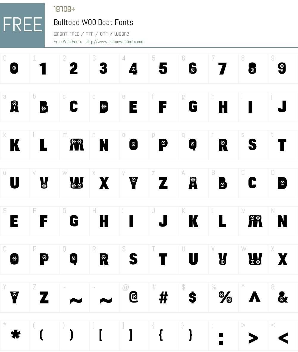 BulltoadW00-Boat Font Screenshots