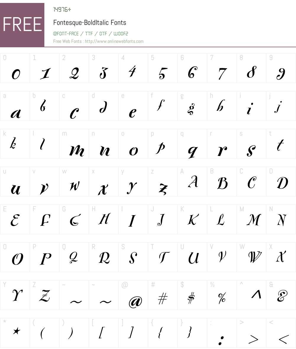 Fontesque Font Screenshots