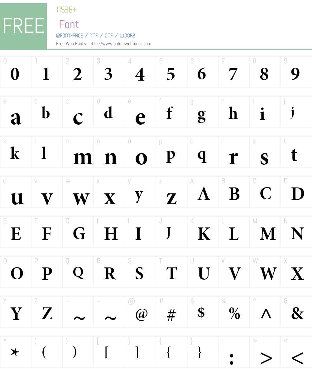 MinionW08-BoldSbh Font Screenshots