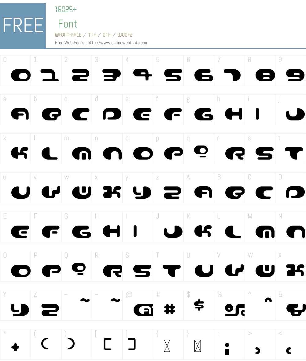 ContourW00-Regular Font Screenshots