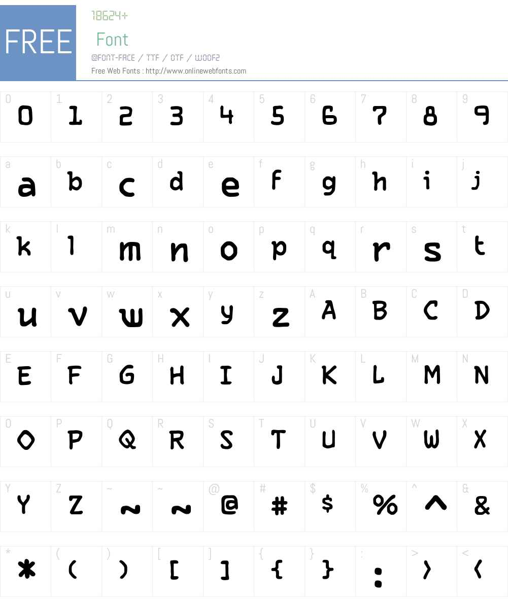 CCLetterbotW00-Regular Font Screenshots