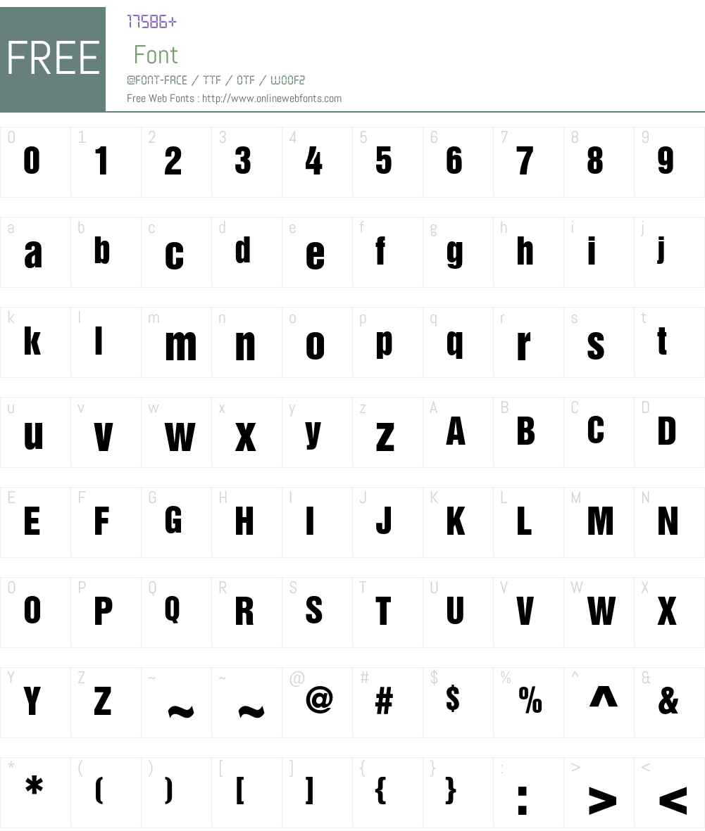 Helvetica Inserat Font Screenshots