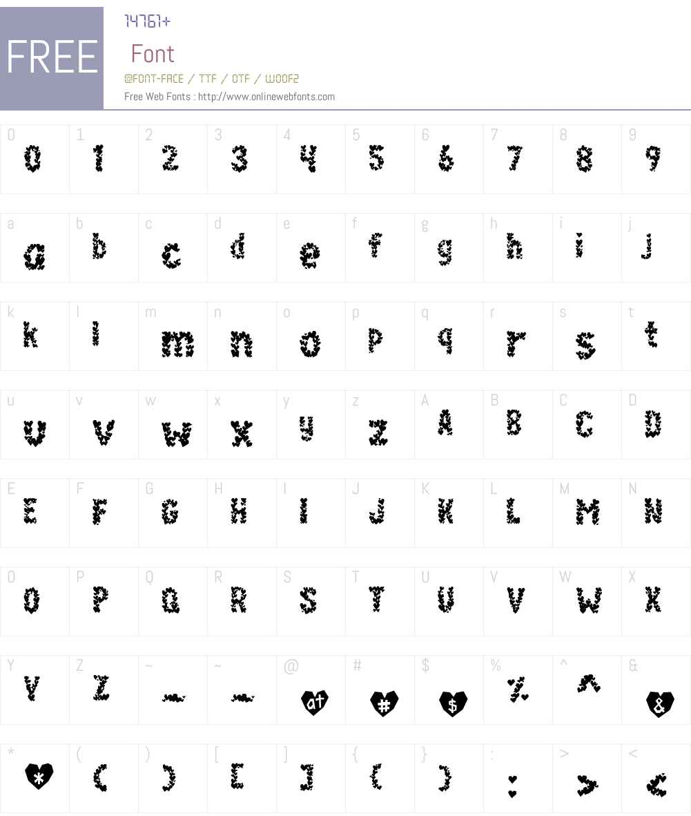 PaperHeartsW00-Normal Font Screenshots