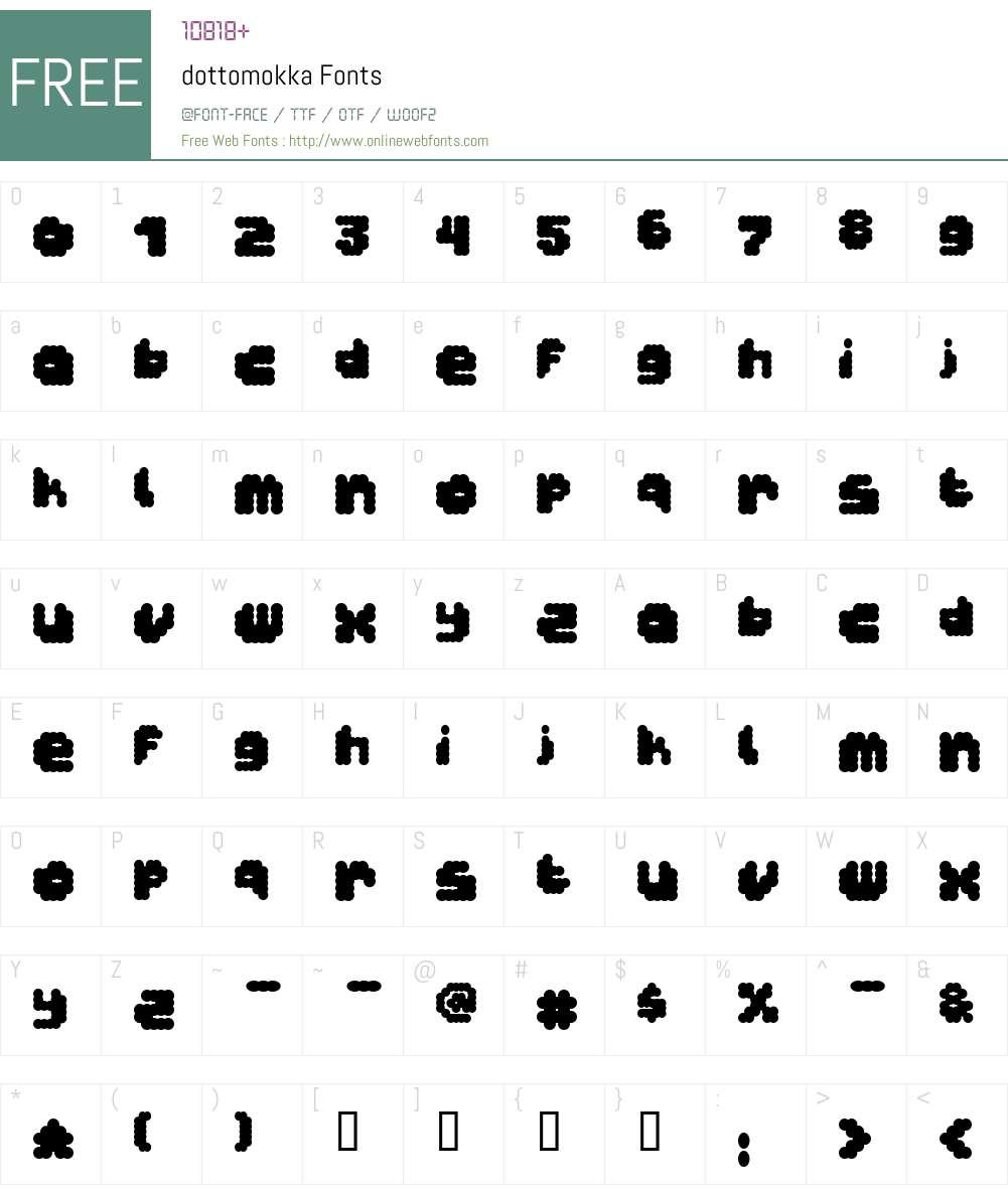 dottomokka Font Screenshots