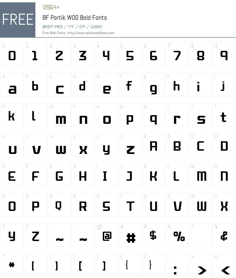 BFPortikW00-Bold Font Screenshots