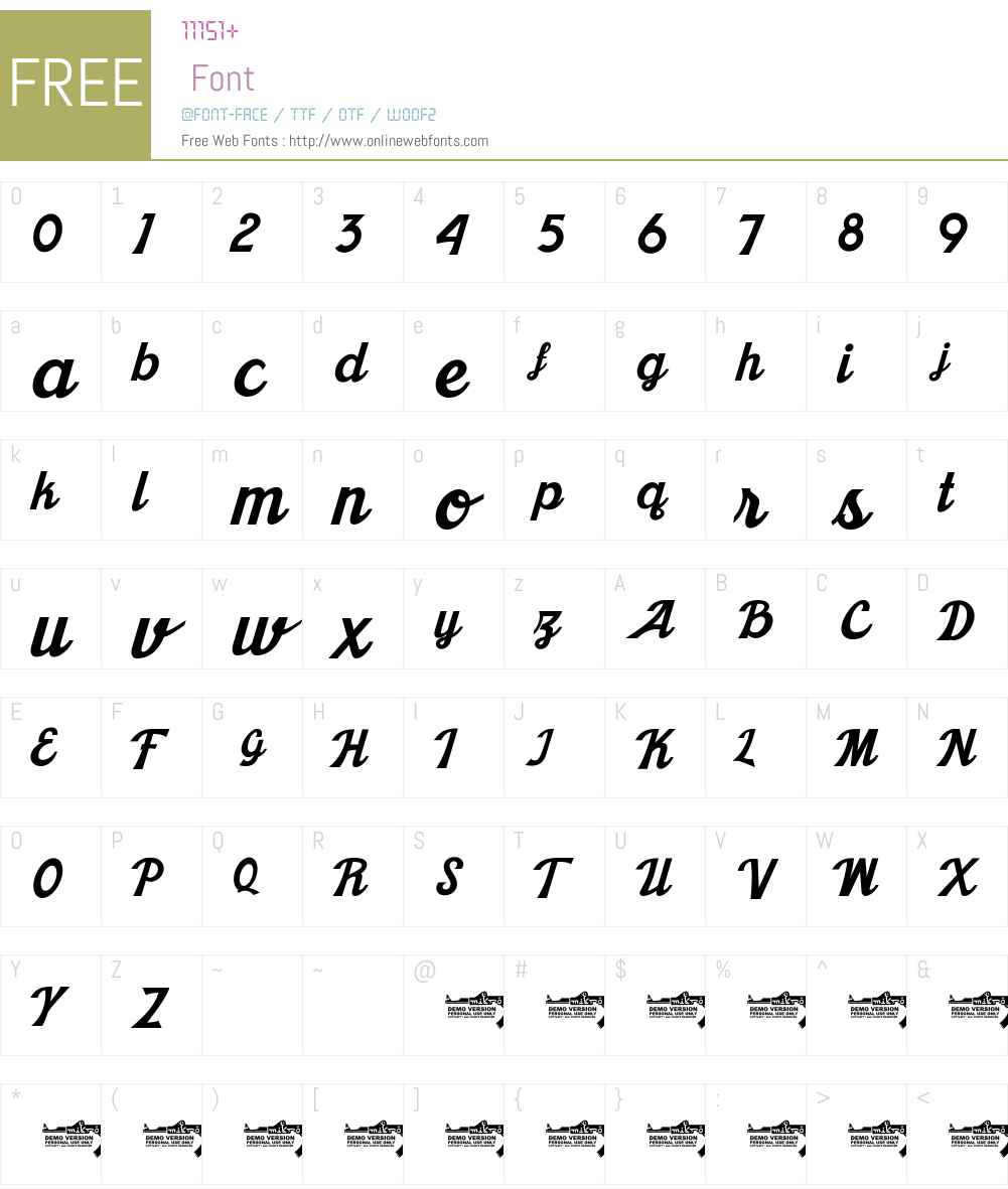 Khadija Font Screenshots