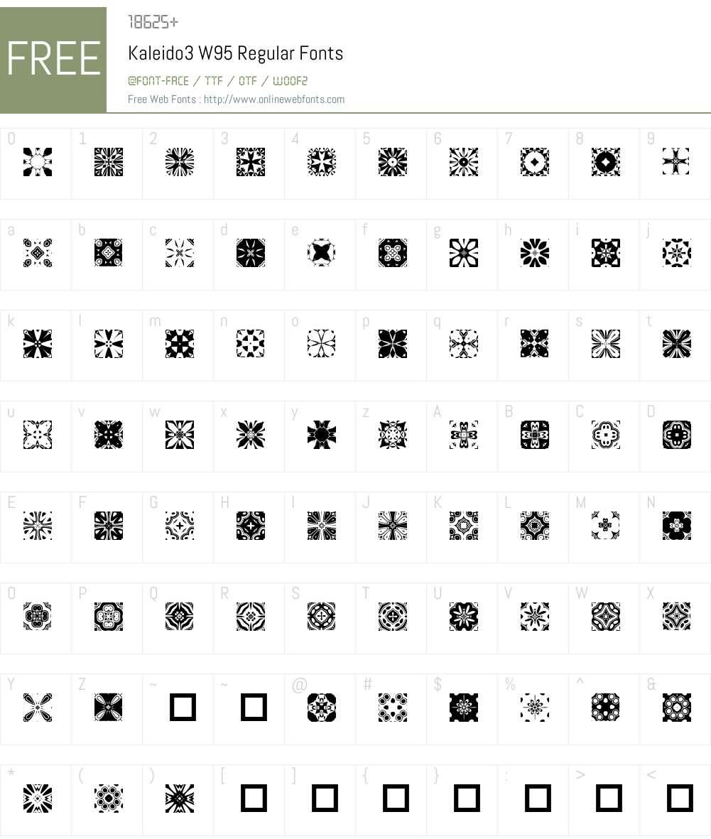 Kaleido3 Font Screenshots