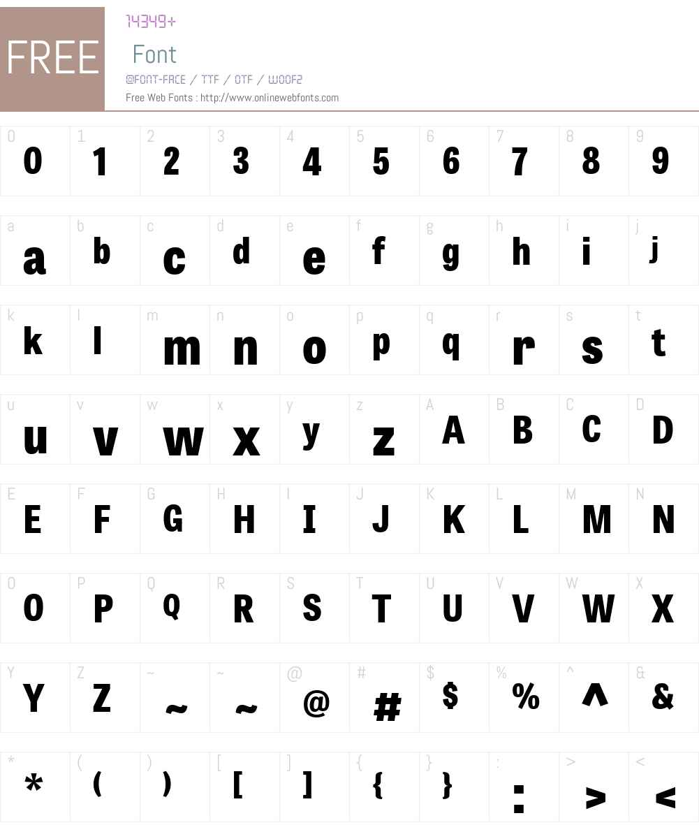 TabletGothicSemiCondensedW01-XBd Font Screenshots