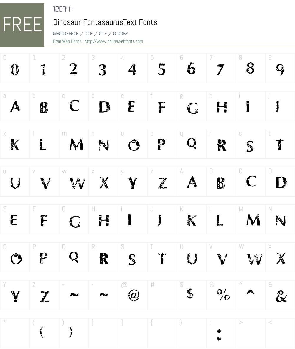 Dinosaur Font Screenshots