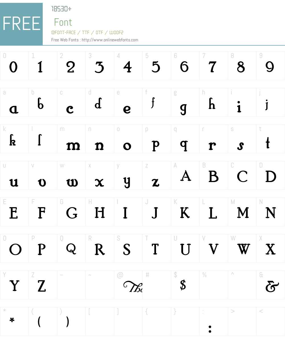 HobbyHorse Font Screenshots